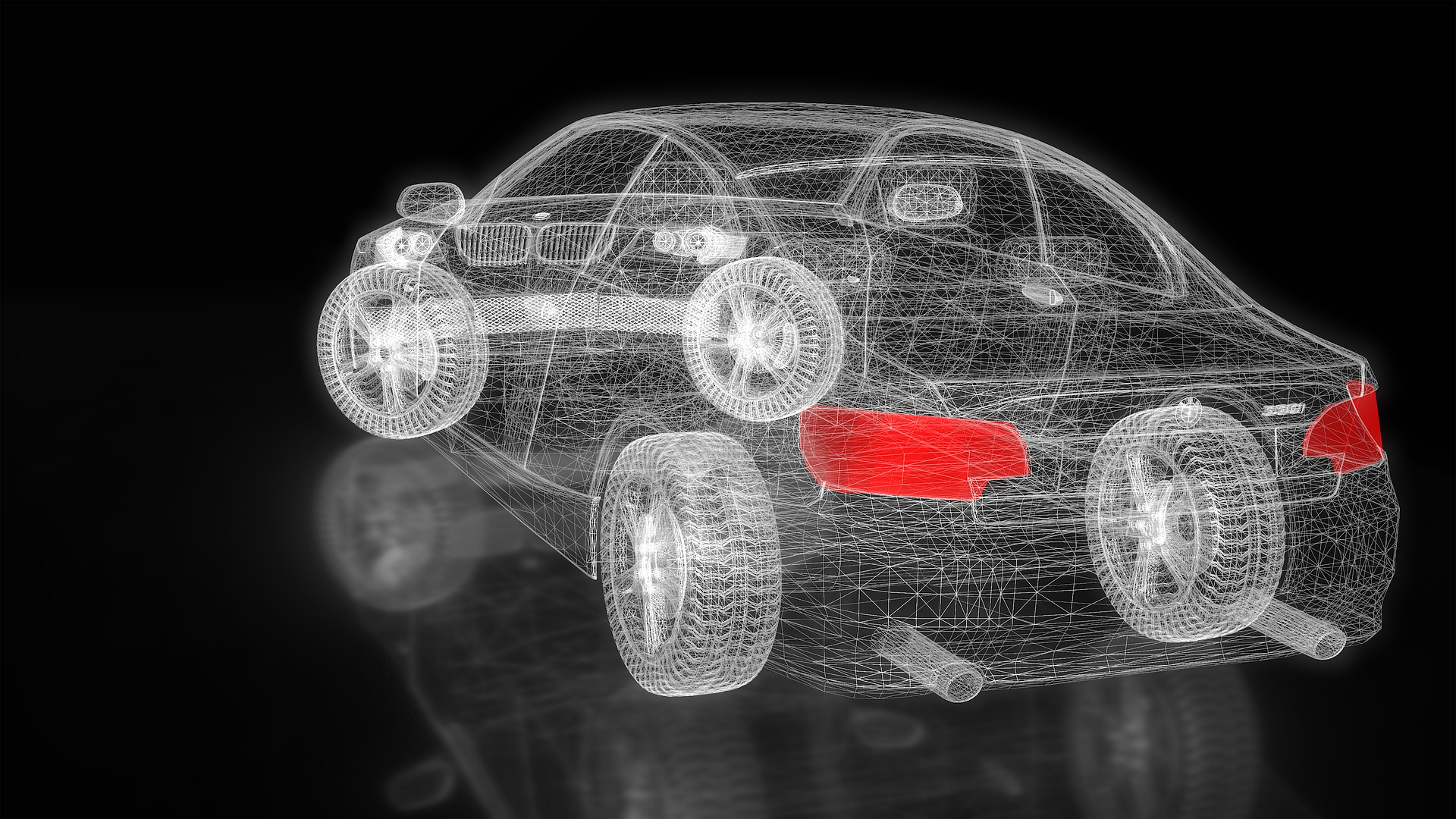 Image of translucent car